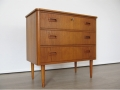 Compact 1960s teak chest of drawers