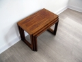 Rosewood nest of tables Kai Kristiansen for Vildbjerg Mobelfabrik