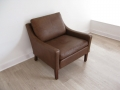Mogensen style leather chair