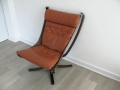 Leather falcon chair Sigurd Resell