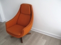 1960s Danish egg swivel chair