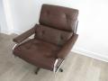 Leather & chrome Pieff alpha chair