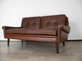 A Danish leather Skippers sofa