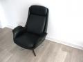 1960s Danish leather swivel armchair