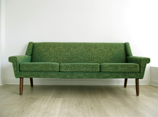 Danish 3 seater sofa on solid rosewood legs for We buy old furniture