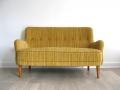 1950s compact Danish mustard yellow sofa