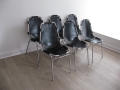 6 Les Arc Charlotte Perriand chairs