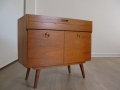 1960s compact teak sideboard record cabinet