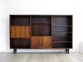 A 1960s Danish rosewood bookcase shelving unit