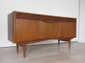 1960s curved sideboard with reeded drawers