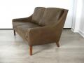 Danish leather 2 seater sofa Borge Mogensen