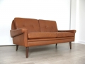 1960s 2 seater Danish leather Skippers sofa