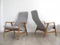 2 Fritz Hansen Alf Svensson reclining chairs
