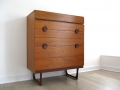 1960s teak tallboy chest of drawers