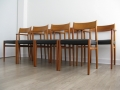 418 & 418B teak chairs Arne Vodder for Sibast