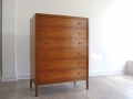 1960s Heals teak tallboy chest of drawers