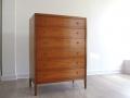 1960s Heals teak tallboy chest of drawers