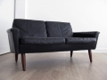 1960s 2 seater Danish leather sofa