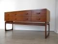 1960s teak G Plan Quadrille chest of drawers