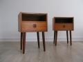 Pair of teak 1960s bedside cabinets