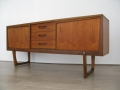 1960s teak sideboard with looped legs
