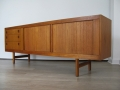 Large 1960s tambour doored Danish sideboard