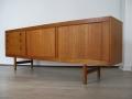 Large 1960s tambour doored Danish sideboard