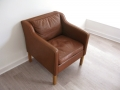 A Danish leather armchair Borge Mogensen