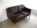 Danish 2 seater leather Stouby sofa