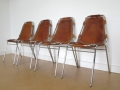 Charlotte Perriand leather stacking chairs