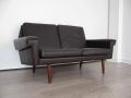1970s 2 seater Danish leather sofa