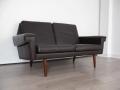 1970s 2 seater Danish leather sofa