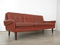 Danish leather Skippers sofa