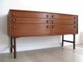 A 1960s teak chest of drawers