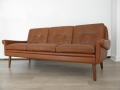 A Danish leather Skippers sofa