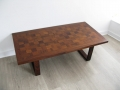 Rosewood chequerboard coffee table France & Son