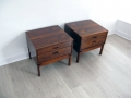 1960s Brazilian rosewood bedside tables