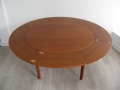 Dyrlund Flip Flap teak table