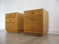 Ercol elm bedside cabinet drawers