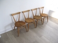 Early 50s Ercol stacking chairs