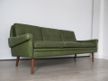 Green leather Skippers sofa