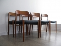 J.L. Moller 75 teak chairs