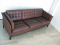Danish buttoned leather sofa