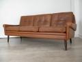 Tan leather Skippers sofa