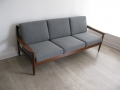 1960s teak 3 seater sofa