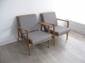 Danish oak lounge chairs