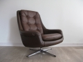 1970s Danish egg swivel chair