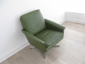 1960s Danish green leather chair