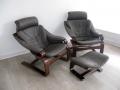 Skippers leather lounge chairs
