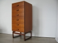 1960s teak Quadrille tallboy chest of drawers